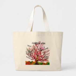 Tree of Love Rules for Happiness Large Tote Bag