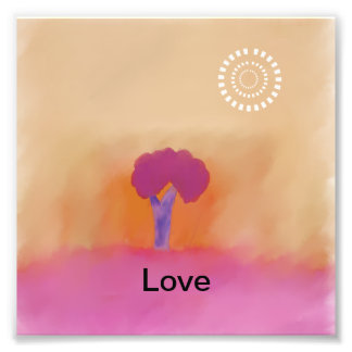 Tree  of love: ugly abstract landscape photo print