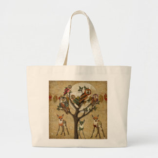 Tree of Owls Floral Fawns Forest Festivity Bag