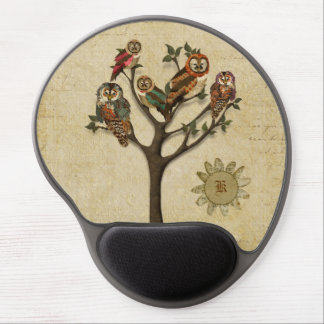 Tree of Owls Monogramed Mousepad Gel Mouse Pad