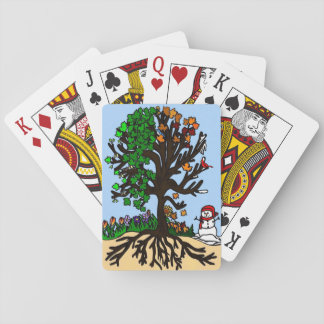 Tree of Seasons Playing Cards
