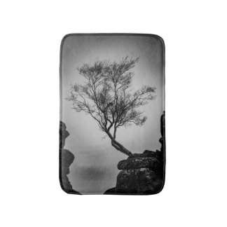 Tree on a Cliff Bathroom Mat