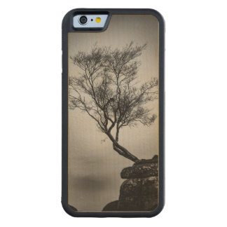 Tree on a Cliff Carved Maple iPhone 6 Bumper Case
