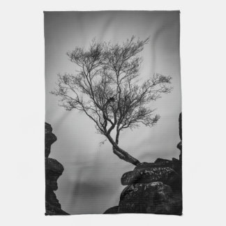Tree on a Cliff Kitchen Towel
