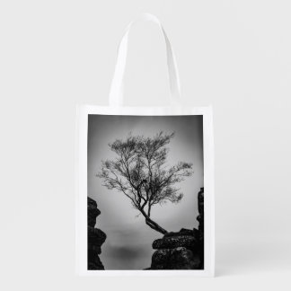 Tree on a Cliff Reusable Grocery Bag