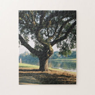 Tree on Cane River Jigsaw Puzzle