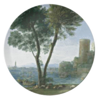 tree on the shore plate