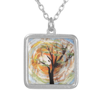 Tree on Tree Silver Plated Necklace
