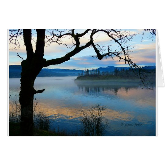 Tree Over the Columbia River Card