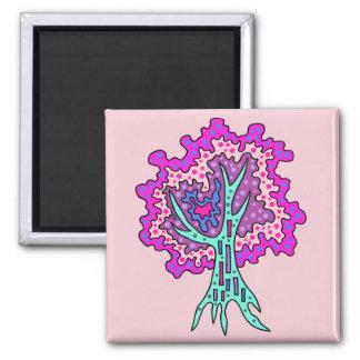 Tree (P) Square Magnet