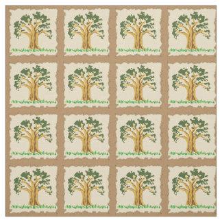 Tree Patch Cotton Fabric