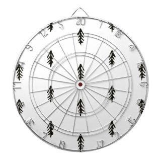 Tree pattern dartboard