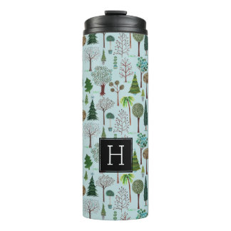 Tree Pattern Forest Woodland | Thermal Tumbler
