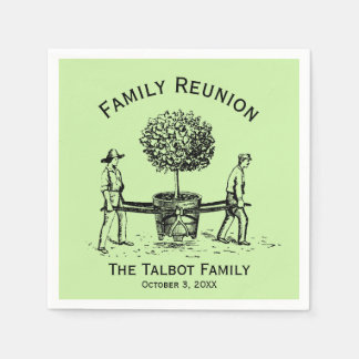 Tree Personalized Family Reunion Paper Napkins