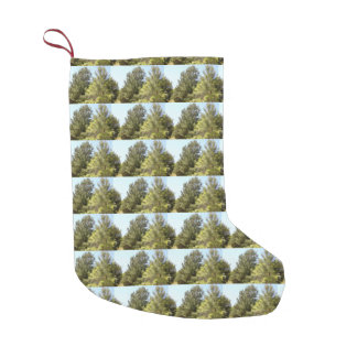Tree Photo Small Christmas Stocking