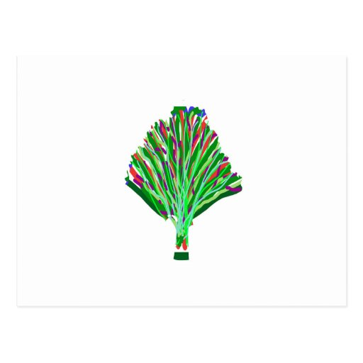 TREE Plant Green Joy Artistic Giveaway Novelty Post Cards