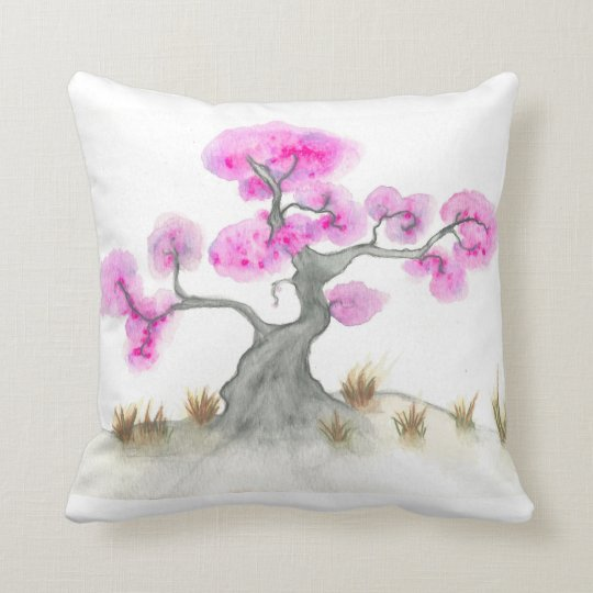 "Tree Polyester Throw Pillow, 16"" x 16"" Throw Pillow"