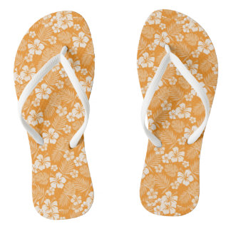 Tree Poppy Orange Hawaiian Flip Flops