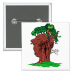 Tree Punks Square Button