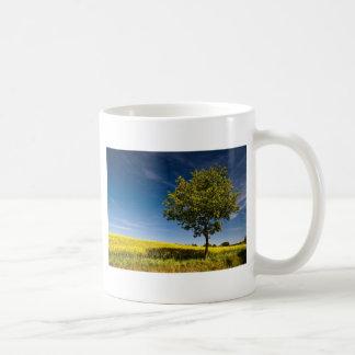 Tree, rape and blue sky / Baum, Raps und Himmel Classic White Coffee Mug