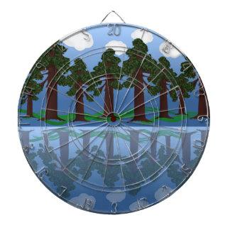 tree reflection dartboards