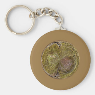 Tree Rings in a Globe in abstract Keychains