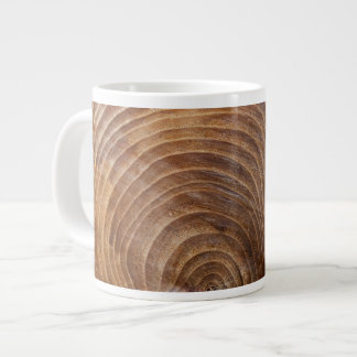 Tree rings large coffee mug