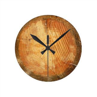 TREE RINGS   natural wood log Round Clock