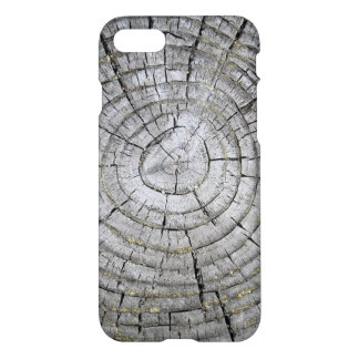 Tree Rings on weathered Stump Texture iPhone 7 Case