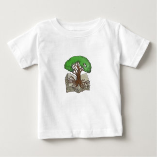 Tree Rooted on Book Tattoo Baby T-Shirt