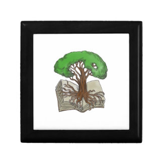Tree Rooted on Book Tattoo Gift Box