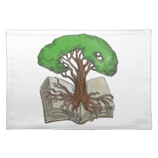 Tree Rooted on Book Tattoo Placemat