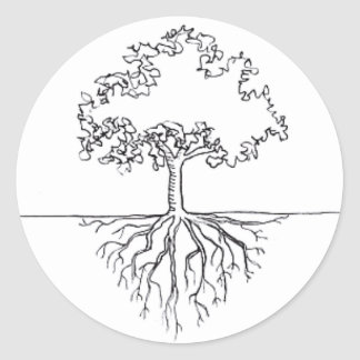 Tree Roots Classic Round Sticker