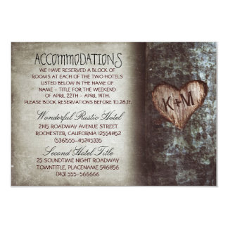 tree rustic wedding accommodations cards personalized announcement