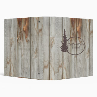 Tree Rustic Wood Cookbook Binder