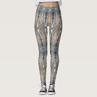tree sap pattern leggings