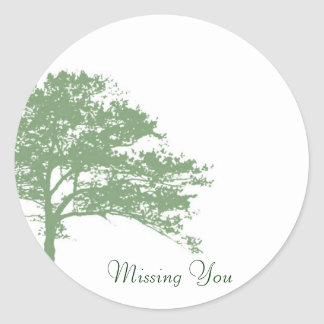 Tree Shade Missing You Sticker