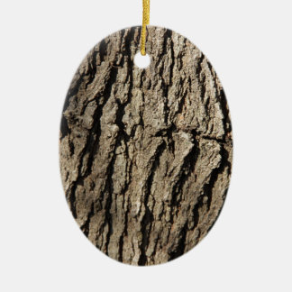 Tree Side Ceramic Oval Ornament
