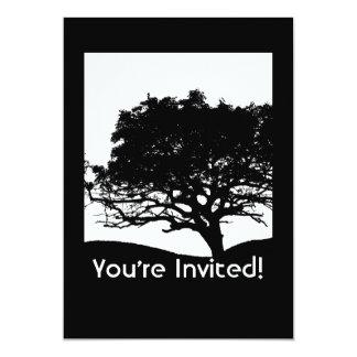 "Tree Silhouette - Family Reunion 5"" X 7"" Invitation Card"