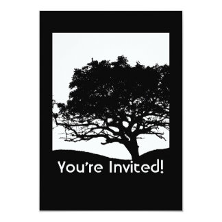 "Tree Silhouette - Family Reunion 5"" X 7"" Invitation Card"