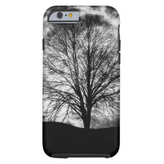 Tree Silhouette in Front of a Full Moon Tough iPhone 6 Case
