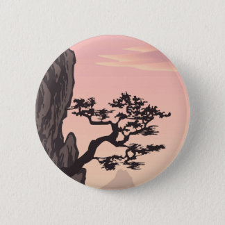 Tree Silhouette in Pink 2 Inch Round Button