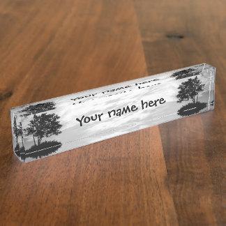 Tree Silhouette Nameplate
