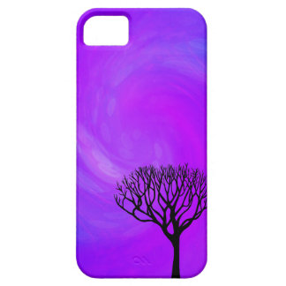 Tree Silhouette (Northern Lights) iPhone 5 Cover