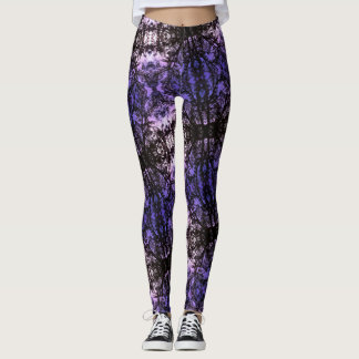 Tree Silhouette Pattern Leggings
