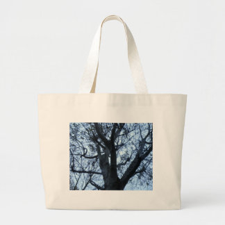 Tree Silhouette Phortograph Tote Bag