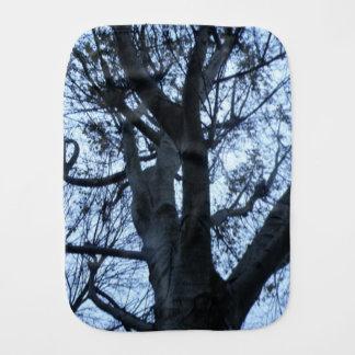 Tree Silhouette Photograph Burp Cloth