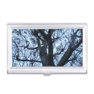 Tree Silhouette Photograph Business Card Holder