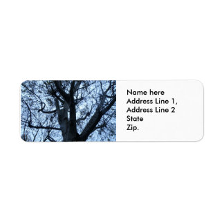 Tree Silhouette Photograph Custom Address Labels