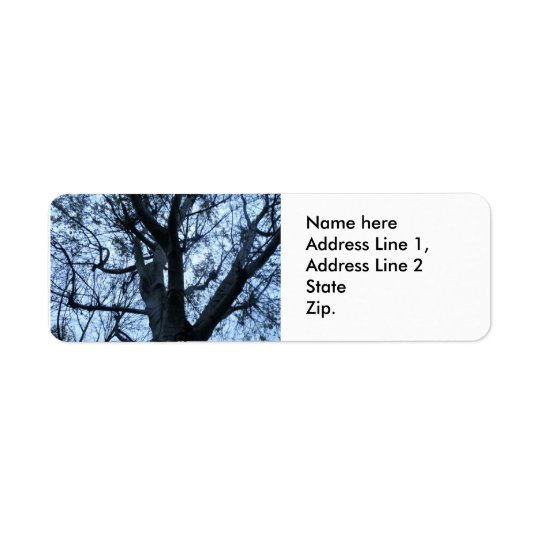 Tree Silhouette Photograph Custom Address Labels